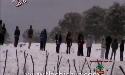tremenda nevada en Tlachichila en el 2010