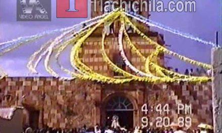 Llegada de la virgen 1988 y 1989